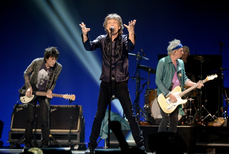 July 12, 1962: The Rolling Stones, seen here at The Honda Center in this May 2013, performed their first show ever on July 12, 1962 at the Marquee Jazz Club in London. (Photo by Kevin Winter/Getty Images)