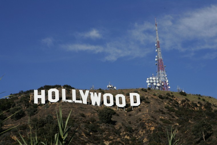 July 13, 1923: The Hollywood sign, formerly the Hollywoodland sign in Los Angeles, was dedicated on July 13, 1923. (Photo by David Livingston/Getty Images)