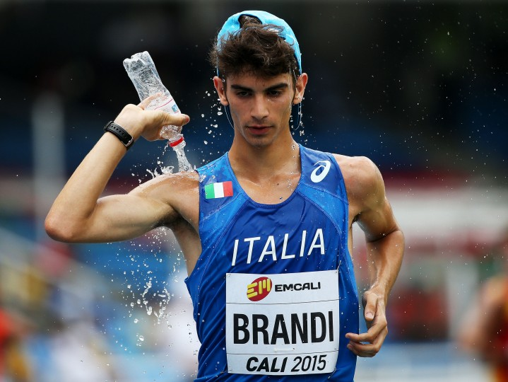 Giacomo Brandi of Italy in action during the Boys 10,000 Metres Race Walk Final on day four of the IAAF World Youth Championships, Cali 2015 on July 18, 2015 at the Pascual Guerrero Olympic Stadium in Cali, Colombia. (Patrick Smith/Getty Images for IAAF)