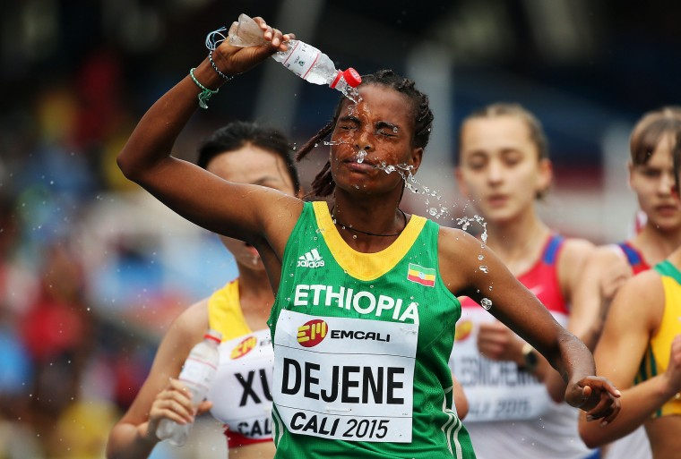 Ayalnesh Dejene of Ethiopia in action during the Girls 5000 Meters Race Walk Final on day four of the IAAF World Youth Championships, Cali 2015 on July 18, 2015 at the Pascual Guerrero Olympic Stadium in Cali, Colombia. (Patrick Smith/Getty Images for IAAF)