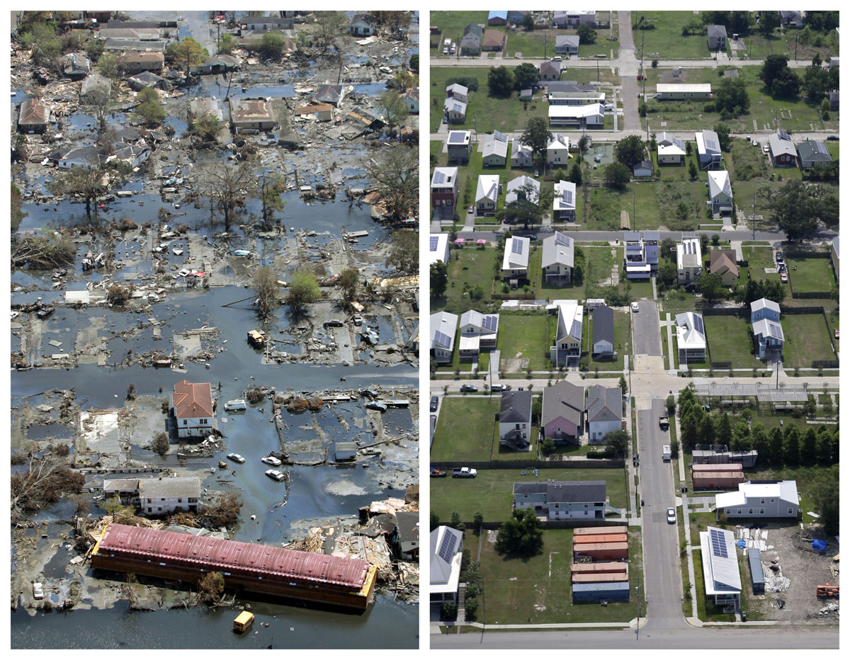 Then and now: New Orleans 10 years after Hurricane Katrina