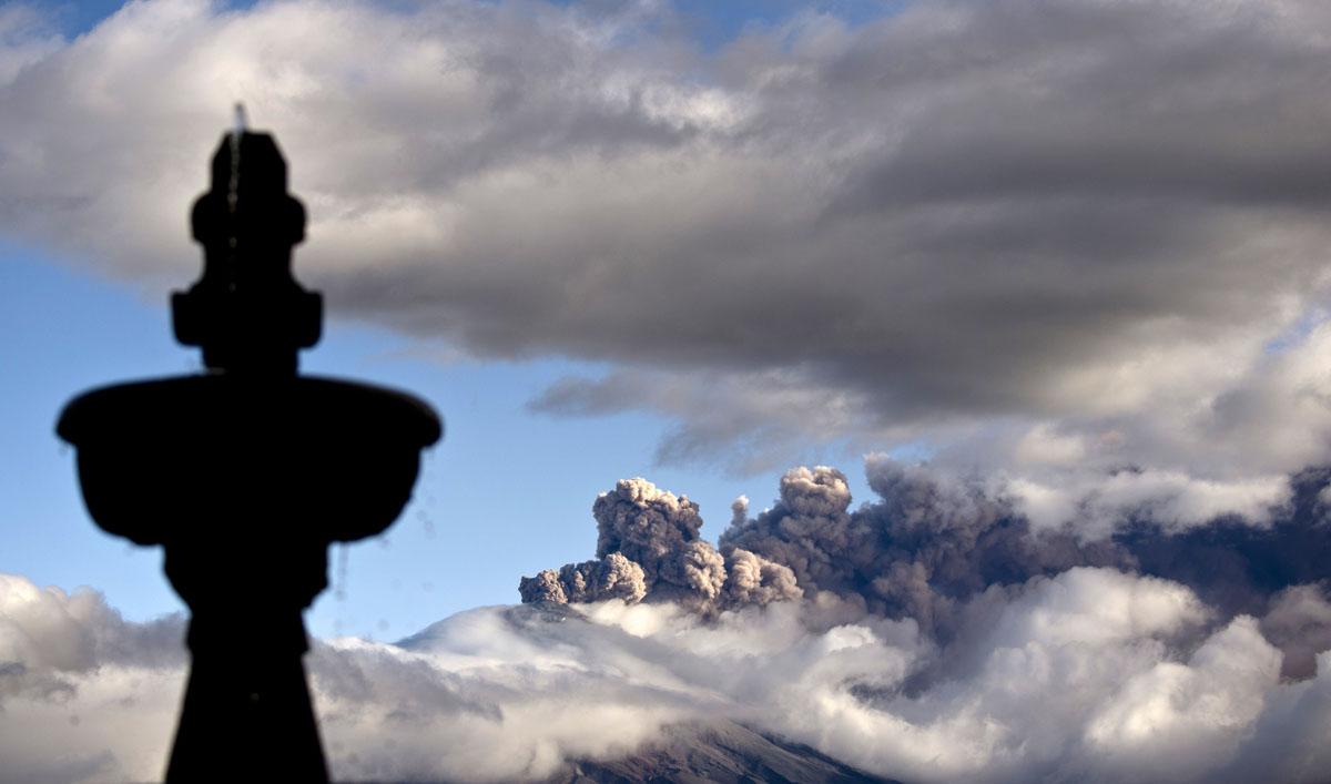 Aftermath of Cotopaxi volcano eruption in Ecuador