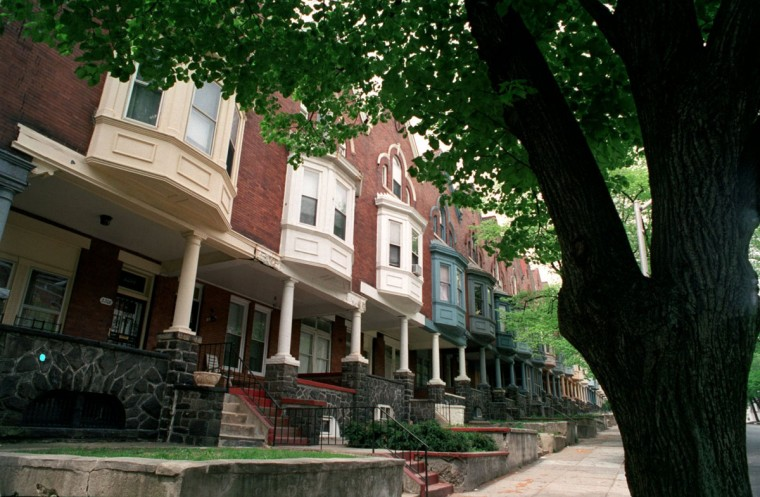 The Reservoir Hill neighborhood has an incredible amount of architecturally distinguished houses dating from the late 19th century. (Algerina Perna / Baltimore Sun / April 25, 2001)