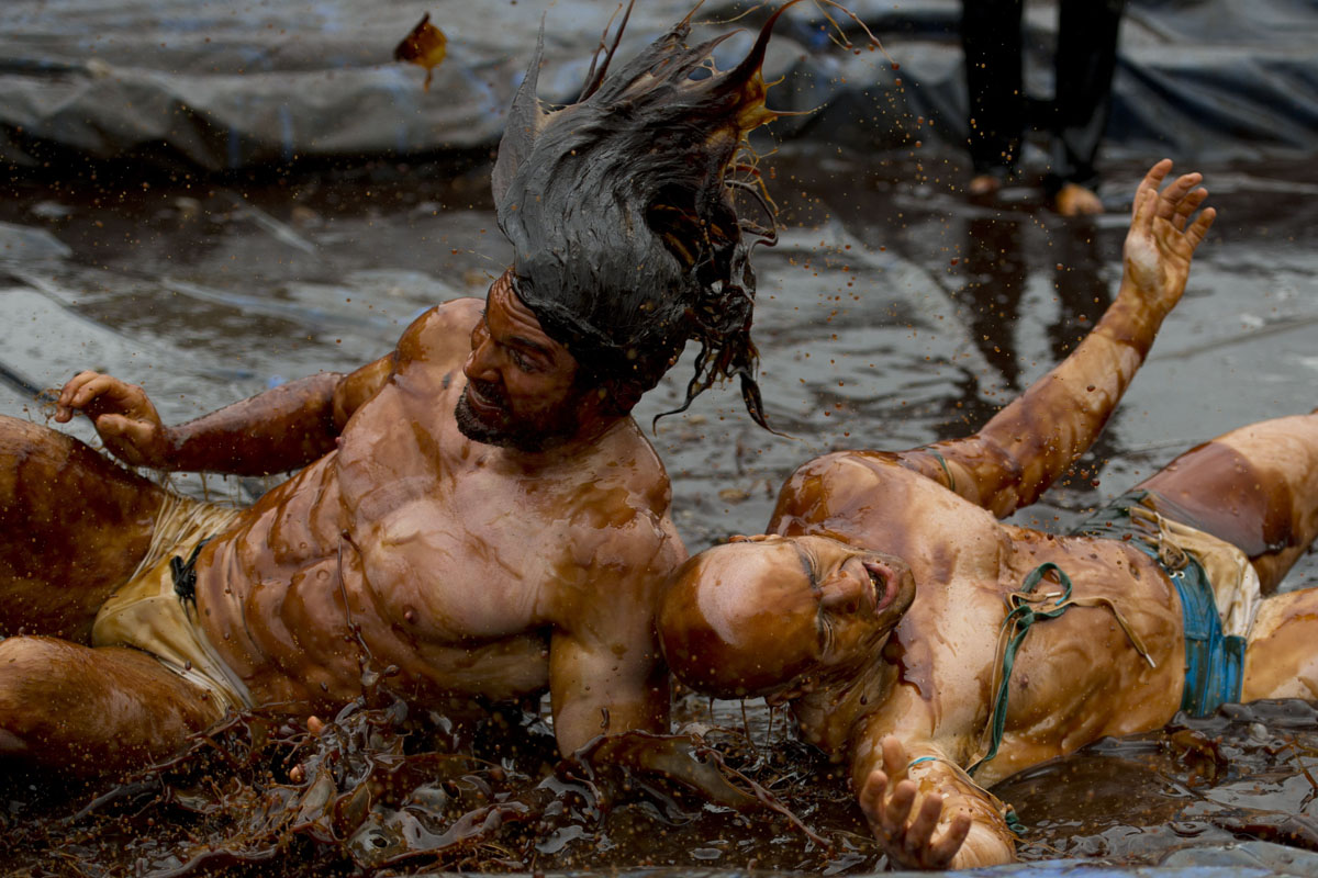 World Gravy Wrestling Championships in England
