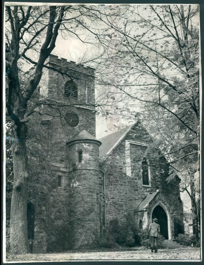Govans Presbyterian Church on York Rd, dedicated in 1846. (Baltimore Sun archives, 1940)
