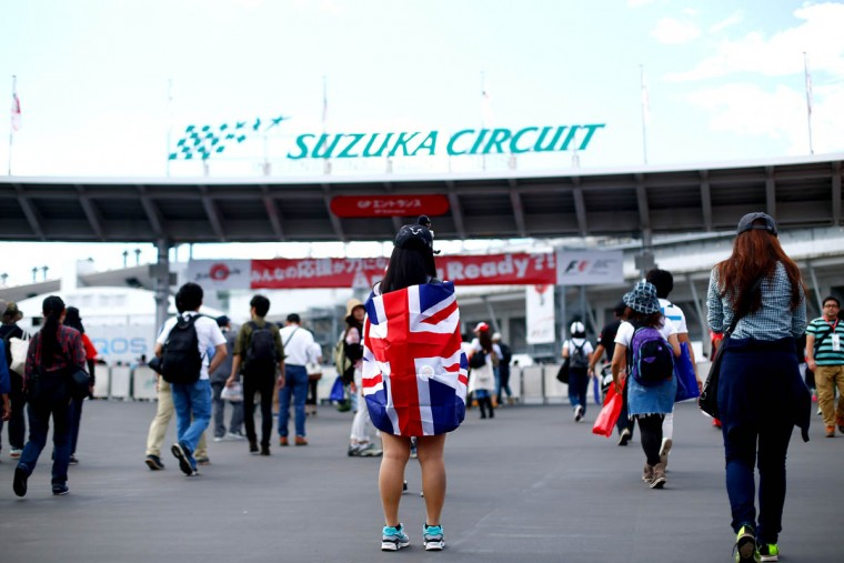 Fans arrive at the circuit before final practice for the Formula One Grand Prix of Japan at Suzuka Circuit on September 26, 2015 in Suzuka. (Clive Rose/Getty Images)