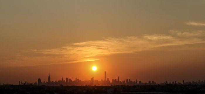 The New York City skyline is seen from the USTA Billie Jean King National Tennis Center, the venue for the 2015 U.S. Open, on Monday in New York. (KENA BETANCUR/AFP/Getty Images)