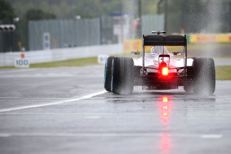 Mercedes driver Nico Rosberg of Germany takes part in the first practice session at the Formula One Japanese Grand Prix in Suzuka on September 25, 2015. (Yuriko Nakao/Getty Images)
