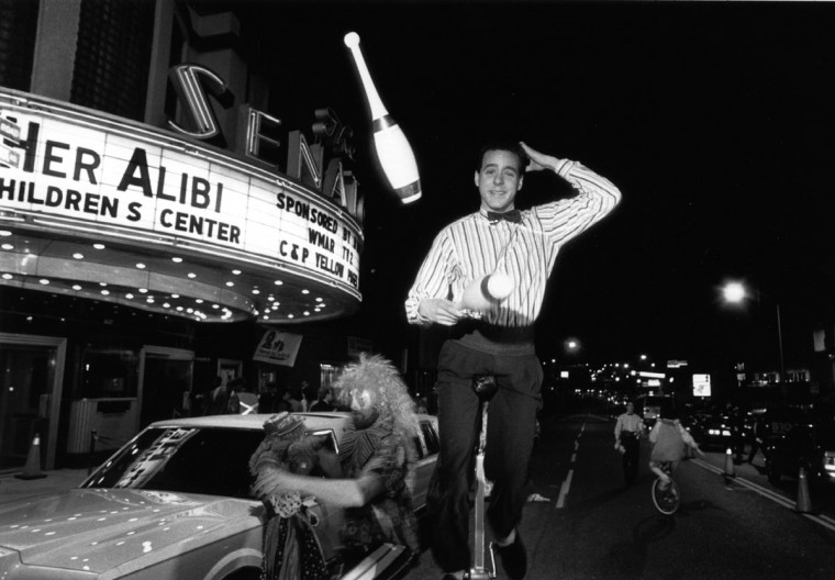 "1989 - Alex Karvounis, of ""Double Trouble"" fame, was one of many performers on hand for the opening of ""Her Alibi"" at The Senator Theatre. (Kim Hairston/Baltimore Sun)"