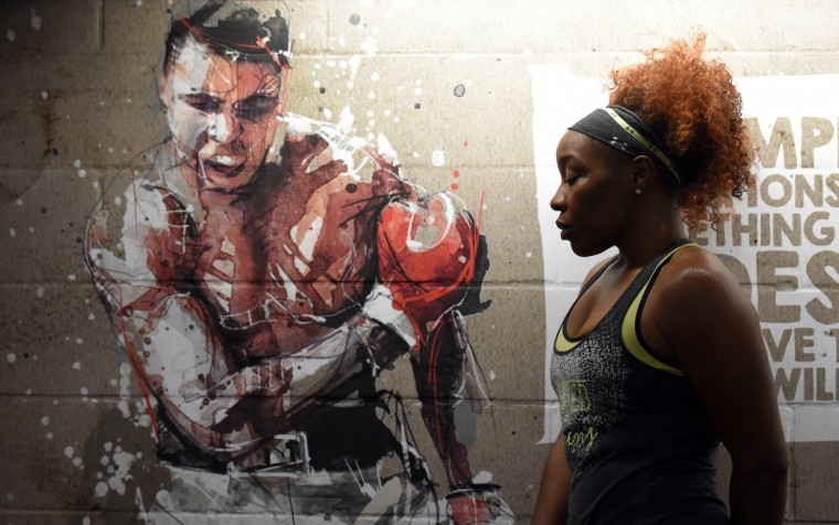 Franchon Crews was an alternate for the 2012 women's Olympic boxing team in London. She has hopes of making the U.S. boxing team for 2016. (Lloyd Fox/Baltimore Sun)
