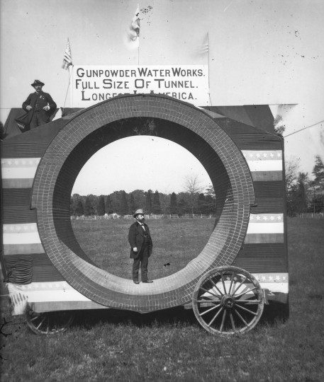 A view of the Gunpowder Pipe. (Photo courtesy of the Baltimore Department of Public Works)