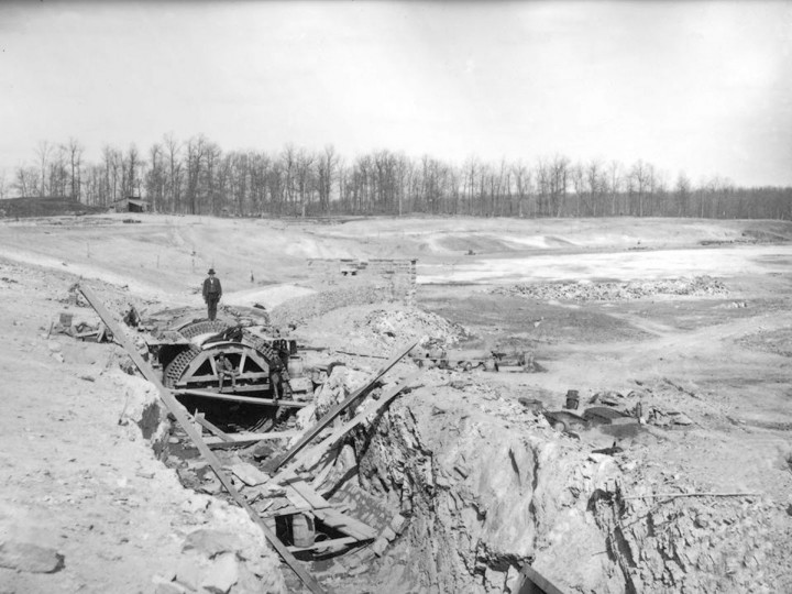 Building the Gatehouse at Lake Montebello began around 1879. This is a section of the tunnel/conduit from Loch Raven. (Photo courtesy of Baltimore's Department of Public Works)