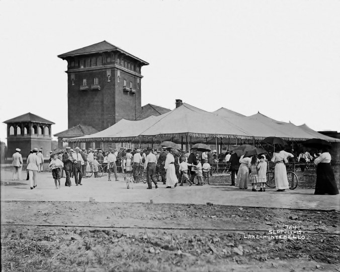 The scene at Lake Montebello on Sept. 13, 1915. (Photo courtesy of the Baltimore Department of Public Works)