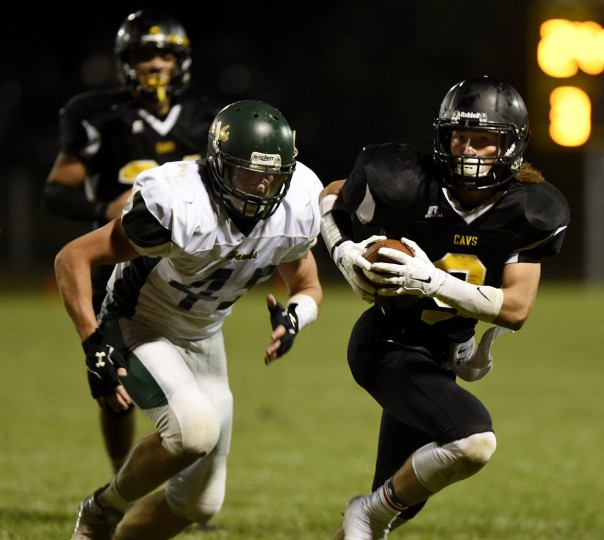 South Carroll's Joseph Malagari runs against North Harford Friday, Sept. 11 in Winfield. (Dave Munch/Carroll County Times)