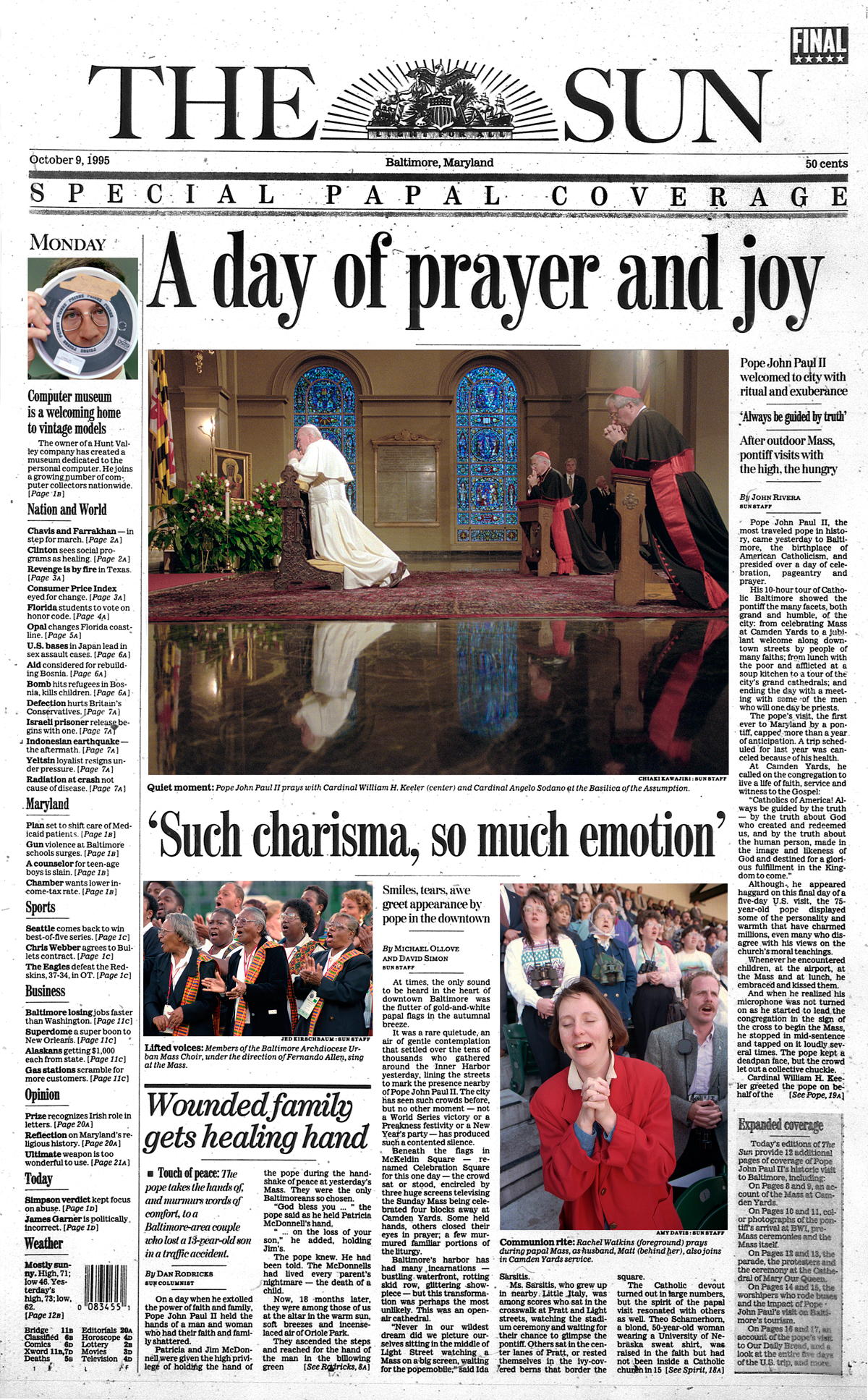 How The Sun covered past papal visits