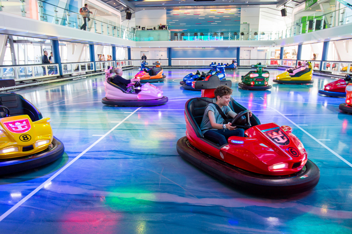 Bumper cars at the SeaPlex on Royal Caribbean's Quantum of the Seas. (Roy Riley /SBW-Photo/Royal Caribbean)