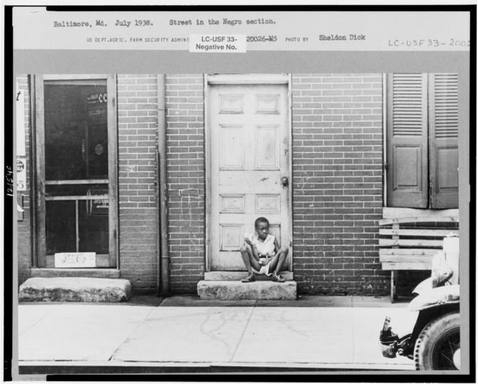 """Street in Negro section."" Sheldon Dick, July 1938"