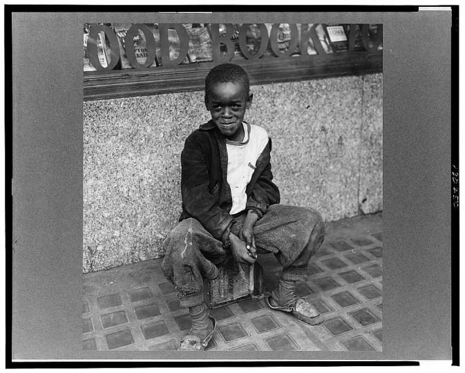"""Shoe shine boy."" Marjory Collins, April 1943"