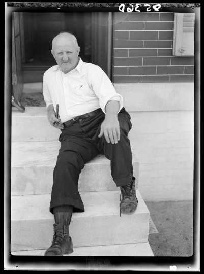 """Man who lives in row house."" John Vachon. July, 1938"