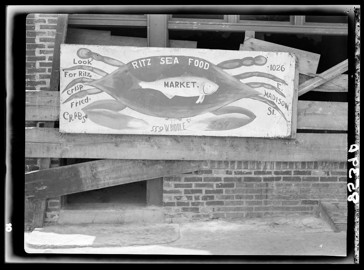 Baltimore signs during Great Depression era