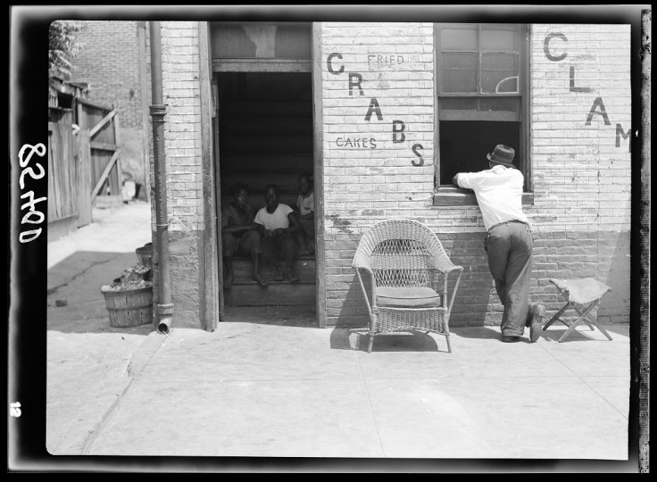 """""""House in Negro section."""" John Vachon, July 1938"""