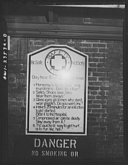 Bethlehem-Fairfield shipyards, Baltimore, Maryland. Safety bulletin. (Arthur S. Siegel
