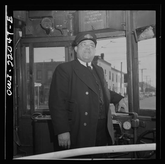 """""""Trolley car conductor."""""""