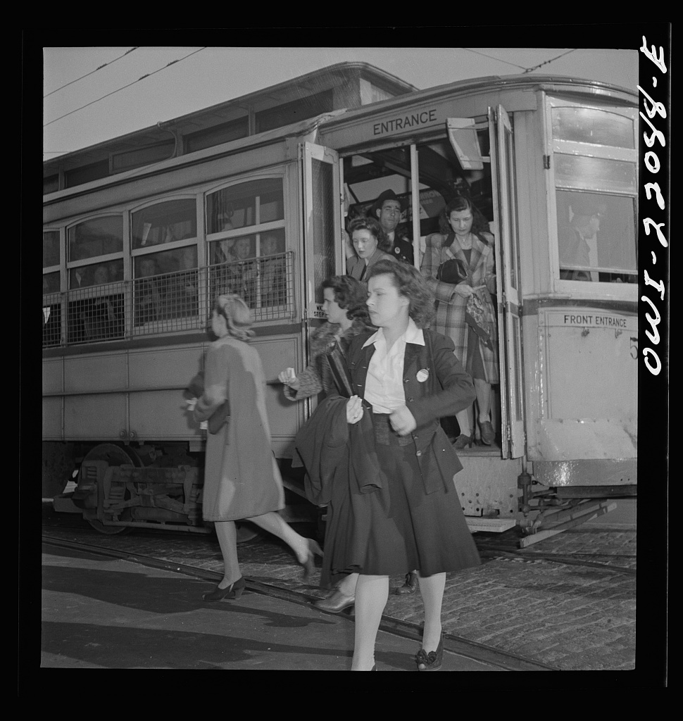 Baltimore's trolleys during the Great Depression