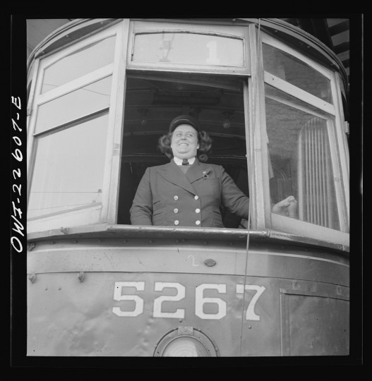 """Woman trolley conductor"""