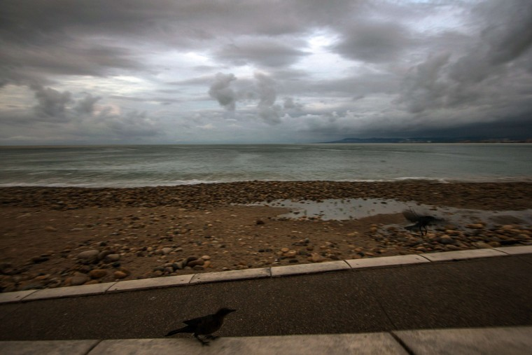 View of a breakwater after the passage of hurricane Patricia in Puerto Vallarta, Mexico on October 24 ,2015. Record-breaking Hurricane Patricia weakened to a tropical storm over north-central Mexico on Saturday, dumping heavy rain that triggered flooding and landslides but so far causing less damage than feared. (HECTOR GUERRERO/AFP/Getty Images)