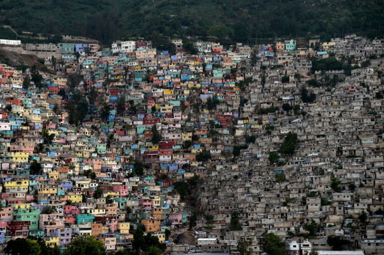 The neighborhoods of Jalousie, Philippeaux and Desermites in the commune of Petion Ville, Port au-Prince, are pictured on MOnday.  (HECTOR RETAMAL/AFP/Getty Images)
