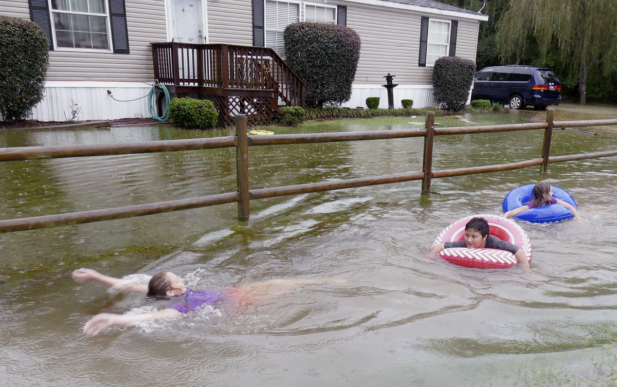 Flooding in South Carolina after storms