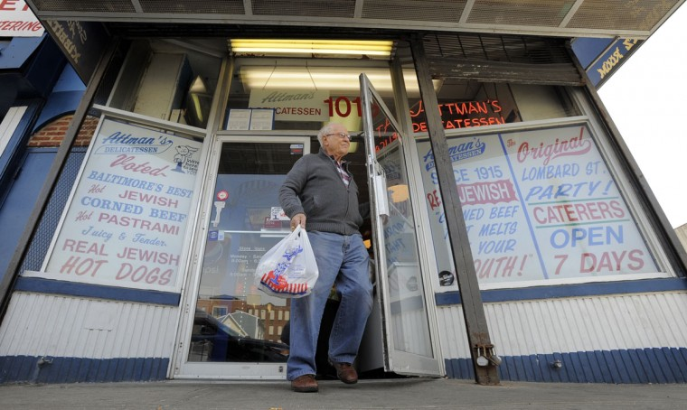 Arthur Meisnere drives from Washington D.C. to gets sandwiches from Attman's Deli. (Lloyd Fox/Baltimore Sun/March 19, 2015)