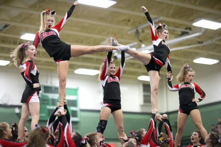 Glenelg performs during the Fall 2015 Howard County Varsity Cheerleading Competition at Atholton High School in Columbia, MD on Wednesday, October 28, 2015. (Jen Rynda/BSMG)