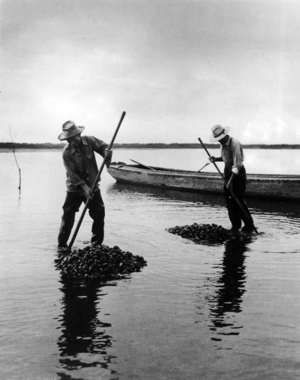 1948 - Raking Clams. (A. Aubrey Bodine/Baltimore Sun)