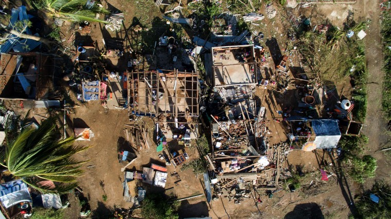 Aerial view of the Chamela community, Jalisco State, Mexico on October 24, 2015 after the passage of hurricane Patricia. Patricia flattened dozens of homes on Mexico's Pacific coast, but authorities said Saturday the record-breaking hurricane largely spared the country as it weakened to a tropical depression. (Mario Vazques/AFP-Getty Images)
