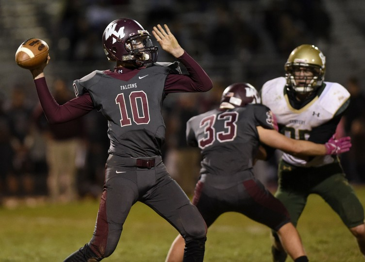 The Century Knights take on Winters Mill Friday, Oct. 23 in Westminster. (Dave Munch/Carroll County Times)
