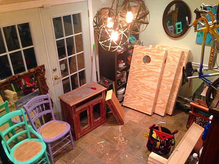 I love to spend time every night in my work space (formally known as a dining room) to work on my latest projects.