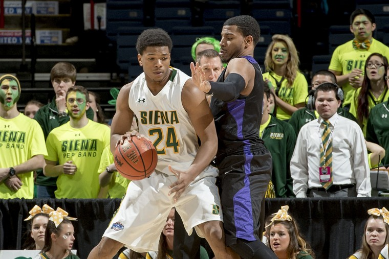 Name: Lavon Long College: Siena Position: Forward Year: Junior High school: Oakland Mills Hometown: Baltimore 2014-15 stats: 10.4 points, 4.9 rebounds, 45.9% FG, 27.1 minutes Long missed seven games with an injury but still had a workmanlike season for the Saints. He was Siena's third-leading scorer and top rebounder as a sophomore. Coaches expect Long, who will start at the 3, to once again be one of Siena's top-three scorers. Photo courtesy of Siena athletics