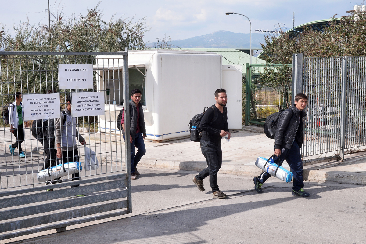 In Athens, former Olympic venues now play host to refugees