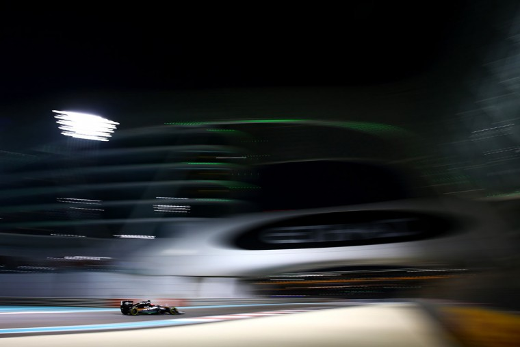 Nico Hulkenberg of Germany and Force India drives during practice for the Abu Dhabi Formula One Grand Prix at Yas Marina Circuit on November 27, 2015 in Abu Dhabi, United Arab Emirates. (Photo by Clive Mason/Getty Images)