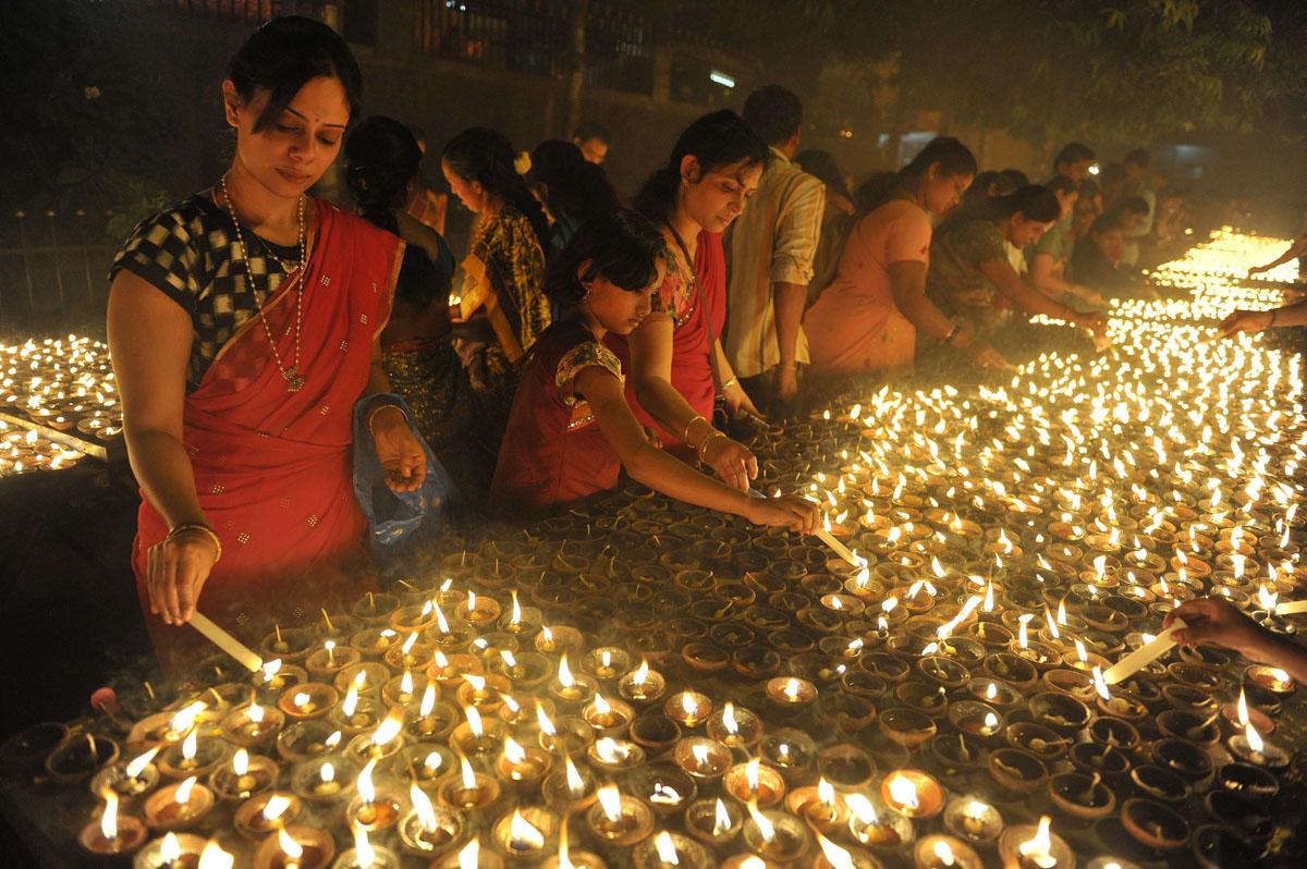 The lights of Karthika in India