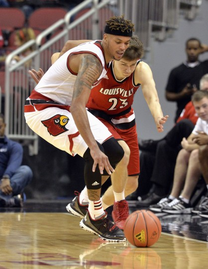 Name: Damion Lee College: Louisville Position: Guard Year: Grad student High school: Calvert Hall Hometown: Baltimore 2014-15 stats: 21.4 points, 6.1 rebounds, 43.8% FG, 38.1 minutes at Drexel After a redshirt junior season at Drexel in which he was the country's fourth-leading scorer, Lee finished his bachelor's degree, announced that he'd play his fifth year elsewhere, and immediately became the most coveted graduate transfer in college basketball. He picked the Cardinals after also considering Arizona, Gonzaga, Maryland and Marquette. In his first game at Louisville, an August exhibition contest in Puerto Rico, Lee poured in a game-high 36 points. AP Photo/Timothy D. Easley