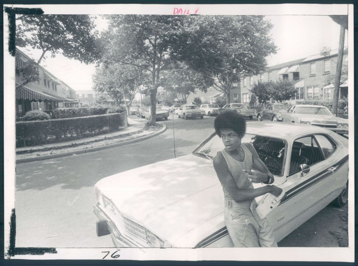 Reginald Vaugh is pictured in Larue Square in Cherry Hill on July 16, 1973. (Baltimore Sun photo by Irving Phillips)