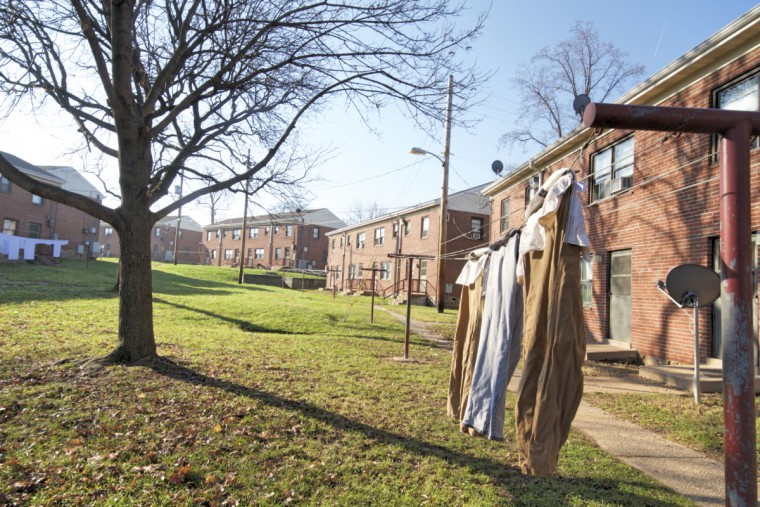 Public housing in Cherry Hill. (Kalani Gordon/Baltimore Sun)