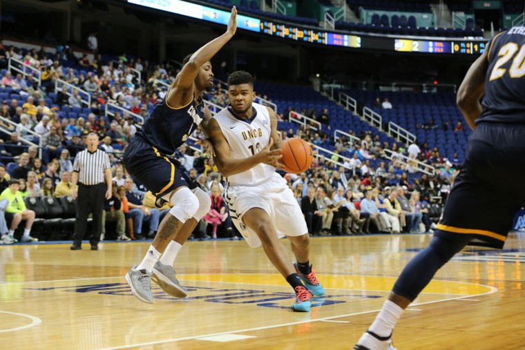 Name: Kayel Locke College: UNC Greensboro Position: Forward Year: Senior High school: McDonogh Hometown: Baltimore 2014-15 stats: 12.6 points, 5.7 rebounds, 46.2% FG, 29.5 minutes One of the most consistent players on the list, Locke enters his senior season 15th on UNC Greensboro's all-time scoring list. He was the Spartans' second-leading scorer and second-leading rebounder. A preseason All-Southern Conference selection, Locke is the first of two Baltimore natives at UNCG on this list. Photo by Tim Cowie, UNCG Athletics