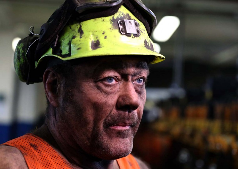 KNOTTINGLEY, ENGLAND - DECEMBER 18:  Gary Ward reacts after his last shift at Kellingley Colliery on December 18, 2015 in Knottingley, England. Kellingley began production in 1965 and is the UK's last deep coal mine. Its closure will complete a carefully managed two-year plan for the UKs deep mines. This has been implemented by UK Coal with financial support from the British government. It follows a long period of difficult trading conditions largely due to low international coal prices. ||Photo by Nigel Roddis - Getty Images
