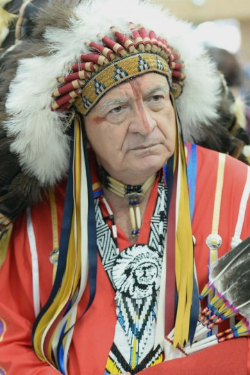 Chief Phil Lane Jr from the Dakota and Chickasa Nations looks on at the COP21 climate summit's venue at Le Bourget, northeast of Paris on December 2, 2015.    More than 150 world leaders are meeting under heightened security, for the 21st Session of the Conference of the Parties to the United Nations Framework Convention on Climate Change (COP21/CMP11), also known as Paris 2015 from November 30 to December 11. MIGUEL MEDINA - AFP/Getty Images