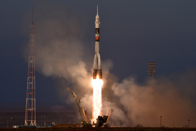 Russia's Soyuz TMA-19M, bound for the International Space Station. (KIRILL KUDRYAVTSEV/AFP/Getty Images)