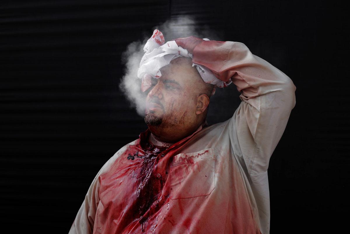 Bahraini Shiite Muslims participate in Arbaeen ritual